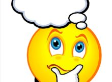 thinking happy face